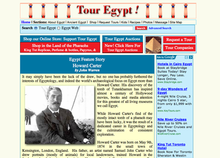 Web page with margin box at right